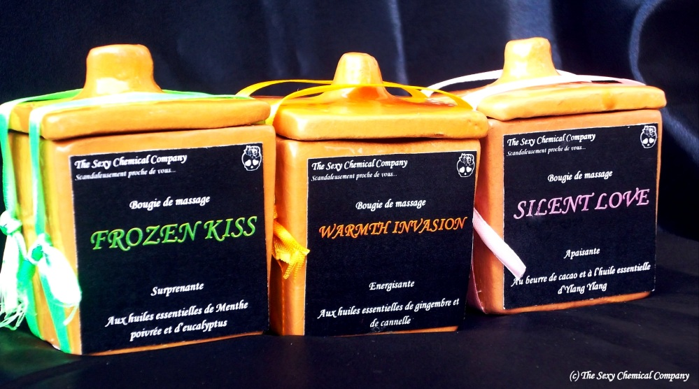 Bougies de massage DELUXE The Sexy Chemical Company