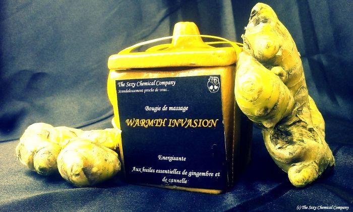 bougie de massage WARMTH INVASION gingembre DELUXE 2