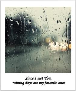 déclarer son amour en 24 heures - exemple 2 jour pluvieux