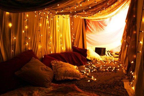 soirée romantique sous draps
