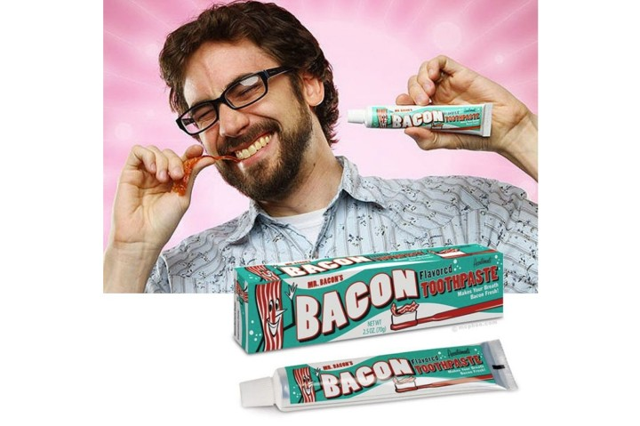 bacon toothpaste - cosmétique hors norme extraordinaire bizarre WTF