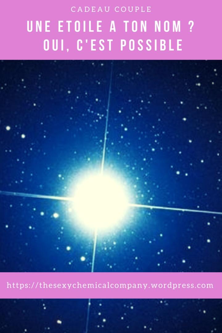 une étoile à ton nom. Oui, c'est possible