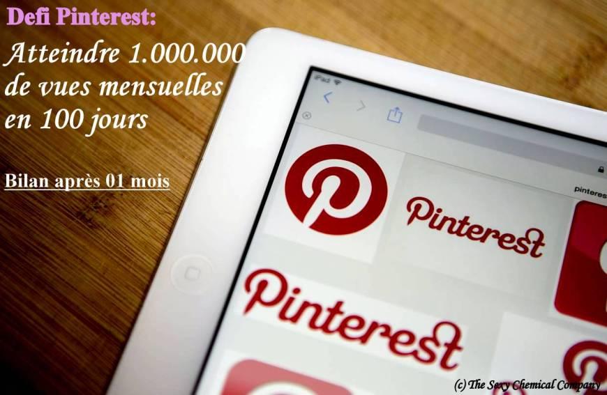 defi pinterest - comment atteindre 1 million de vues mensuelles sur pinterest - bilan apres 01 mois