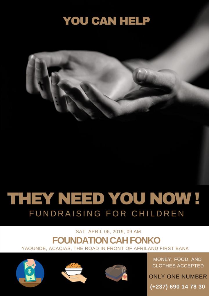 appel à donation fondation CAH FONKO Yaoundé