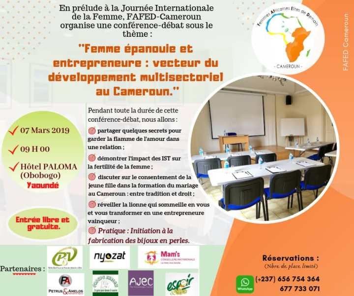 Journée thématique femme FAFED Cameroun