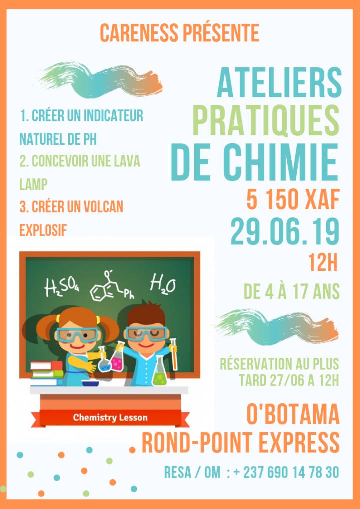 activité careness - vacance Yaoundé - les petits chimistes