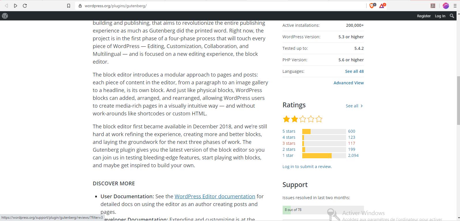 avis sur WordPress Gutenberg